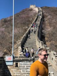 Duvalay at the Great Wall of China